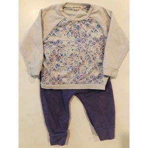 Appaman Mini Sweatshirt and Purple Pants 12-18 mo